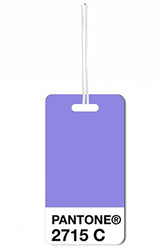 Purple Pantone Max Wilder TM Luggage Tag with Customizable Back (Pantone Luggage Tag)
