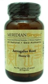Astragalus Extract 7500mg, 60 capsules (6 pak - total 360 caps) by Meridian Singles