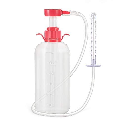 XHXseller Sistema de Limpieza Vaginal Natural de 600 ml, Limpiador de duchas vaginales - Kit de Limpieza Vaginal de duchas anales para Limpieza/desintoxicacion de Colon, duchas, cafe y