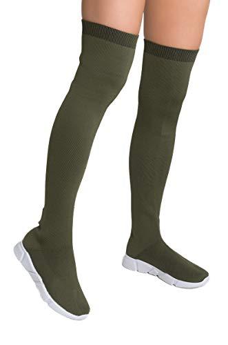 66b6d58b9e3c8 Jual AKIRA Women's Thick Stretch Knit Chunky Dad Sole Sock Bootie ...