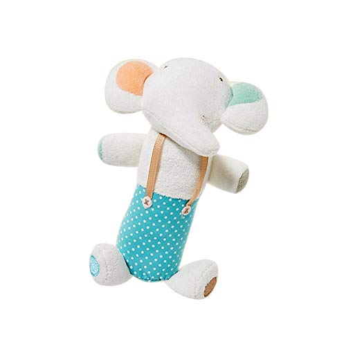 Soft Plush Animal Dolls, Baby Rattles Musical Toy, Infant Keepsake Educational Toy Activity Play Toys Interactive Toy Handbell Hand Rattles