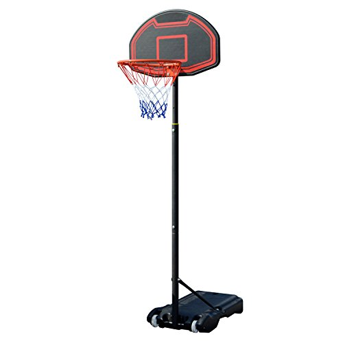 Fashine Youth Height Adjustable Movable Portable Basketball Hoop System for Indoor Outdoor [US STOCK]