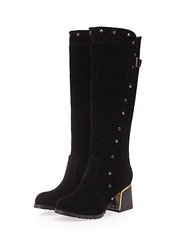Noir-us8   eu39   uk6   cn39 XZZ  Chaussures Femme - Extérieure   Bureau & Travail   Habillé   Décontracté - Noir   Marron   Vert   Rouge - Gros Talon -Bout Arrondi   Bout