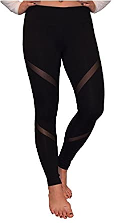 Amazon.com: Mesh Yoga Pants Women's Workout Leggings by Yoggir ...