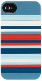 Griffin GB03466 Snappy Stripes Case für Apple iPhone 4 blau