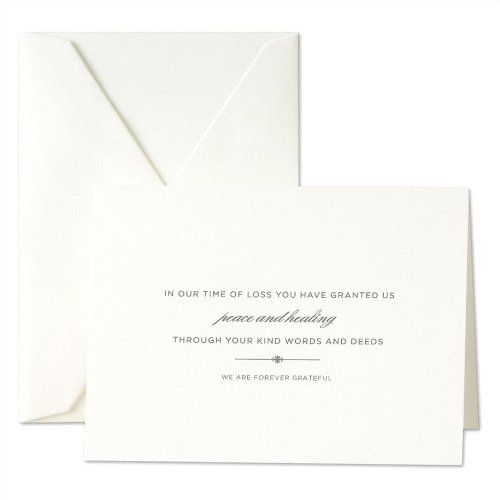 Crane & Co. Hand Engraved Sympathy Notes (CF1182)