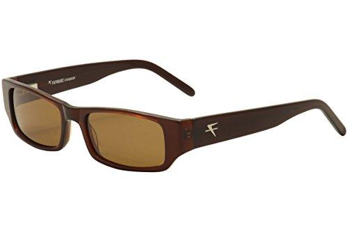Fatheadz Men's Aim FH00132 FH/00132 Brown Polarized Fashion Sunglasses - Sunglasses Fatheadz