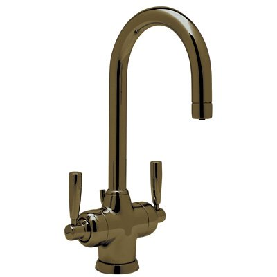 (Rohl U.1335LS-EB-2 9.17793.15Ib U.1335 Perrin and Rowe Single Hole Bathroom Faucet with Triflow Technology, English Bronze)