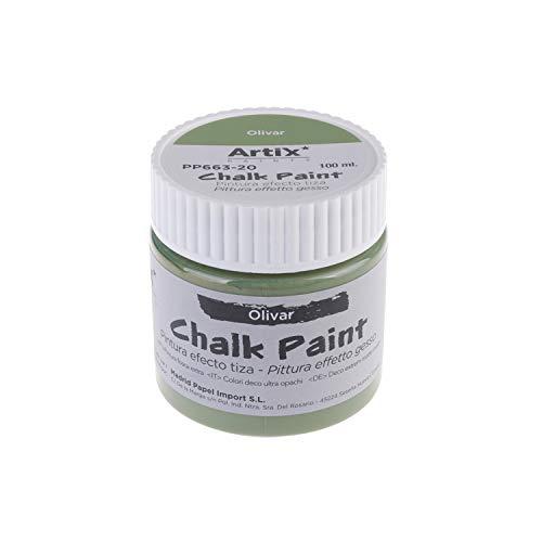 MP - Chalk Paint, Pintura Acrilica Efecto Tiza Vintage, (PP663-20) Color Olivar - 100ml