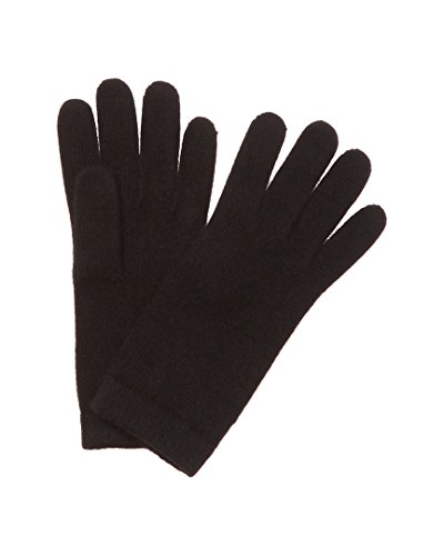 Portolano Womens 100% Cashmere Classic Winter Gloves Black O/S (Portolano Womens Cashmere)