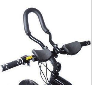 Rest Handle Bars Handlebar Armrest Handlebar for Road Mountain Bike Cycling Race Bicycle MTB Color Black