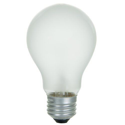 Sunlite 75A/FR/RS/2PK Incandescent 75-Watt, Medium Based, A19 Rough Service Bulb, Frost, 2-Pack - A19 Rough