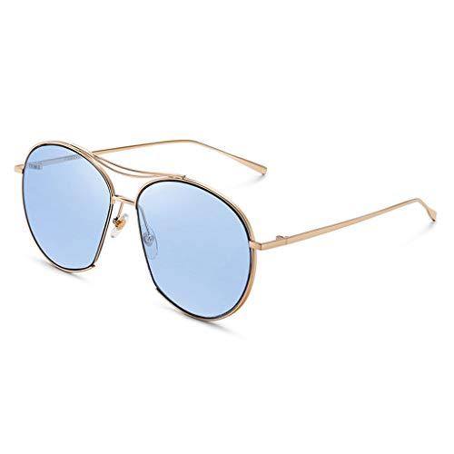 Demi Mode de Nouveau Sport de lunettes Soleil Couleur C de Femme psychédélique Claire Lunettes de Trame Miroir soleil de Des Conduite rétro 4I8ZnROR