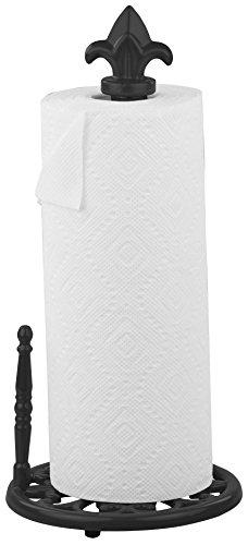 Home Basics PH44395 Cast Iron Fleur De Lis Paper Towel