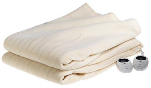 Martex Fahrenheit Vellux Dual-Control King Heated Blanket, - Martex Ivory Blanket