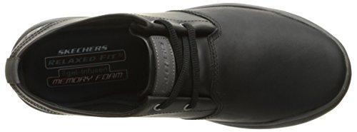 Skechers uomo vestibilità comoda: oldis - volaro casual comodi scarpe nero in Taglia uk6 to Uk13