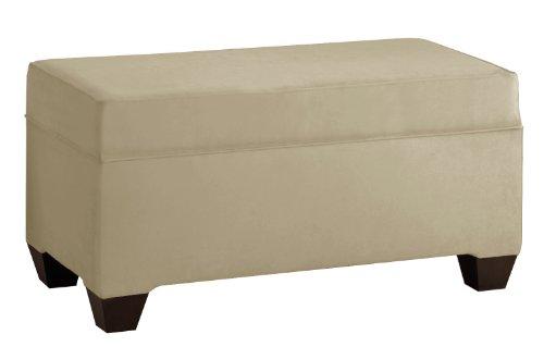 Skyline Furniture Upholstered Bench - Skyline Furniture Velvet Upholstered Storage Bench, Buckwheat