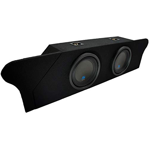 Compatible with 2010 2011 2012 2013 2014 2015 Chevy Camaro Coupe Trunk Alpine S-W10D2 Type S Car Audio Subwoofers Dual 10″ Custom Sub Box Enclosure Package
