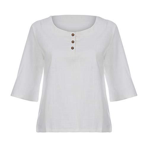 [해외]여성의 버튼 풀 오버 단색 티셔츠 여름 패션 짧은 소매 캐주얼 오-목 탑 블라우스 / Women`s Button Pullover Solid Color T-Shirt Summer Fashion Short Sleeve Casual O-Neck Top Blouse