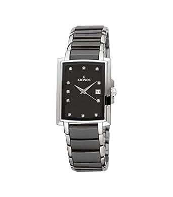 Kronos - Ceramic Black 931.8.52 - Reloj de seÑora de cuarzo - brazalete de cerÁmica - color esfera: negra