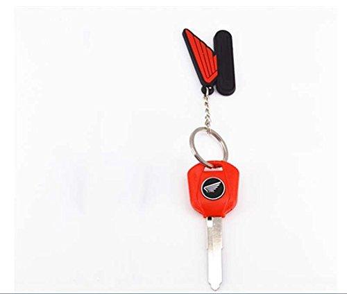I-Joy Red Motorcycle Blank Key for Honda CB/CBR/DIO/CRZ/CRF/CBF/VFR Like CBR250R CBR300R/CB300F/Fa CBR500R/CB500F/CB500X etc Uncut Blade Key Replacement(Left Slot) (Right Slot)
