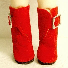 25mm Boots - Shoes suede boots 25mm [Red] Doll (parallel import goods)