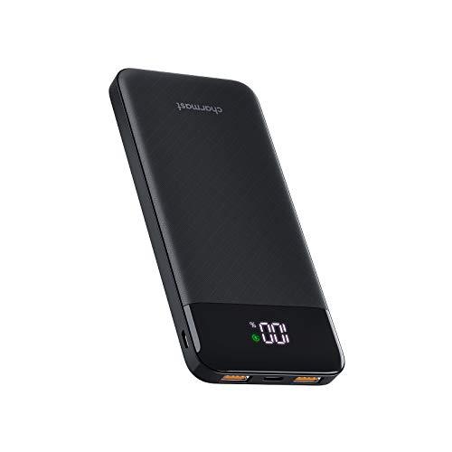Charmast 10400mAh Powerbank USB C Externe Accu 10000 met LED Display 5V 3A Ultradunne Portable Charger Compatibel met…