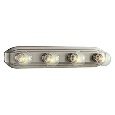 Designers Fountain 6614 Value Bath/Vanity 4 Light Bath Bar in Brushed Nickel Finish