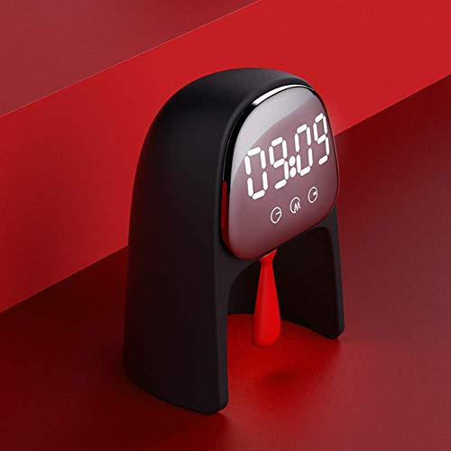 Mr.Time 알람 시계 대음량 알람 램프 인테리어 가오나시 2000mAh 배터리 내장 스누즈 기능 야간 조명 기능 음성 컨트롤 일본어 취급 설명서 부 블랙 / 레드