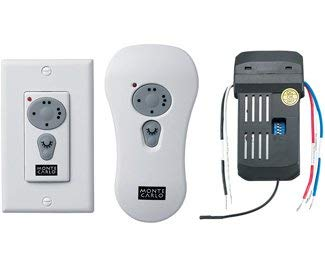 - Monte Carlo CK250 Transitional Wall-Hand-held Combo Remote Control Kits Collection in White Finish, See Image