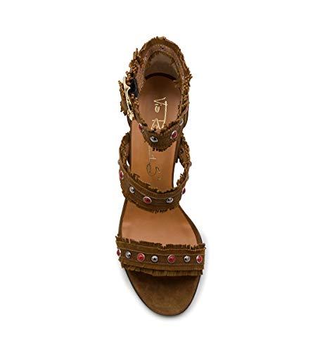 15 2809Brown Via pour Leather Roma femmes Suede Sandales 5qxxS7F