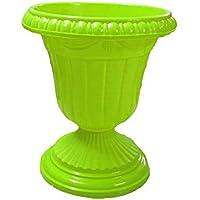 "Antier Tulip Plastic Pot Garden Patio Planter (Pack of 1, Green, Size 12"")"