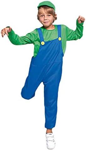 Disfraz Fontanero verde niño infantil para Carnaval (4-6 años ...