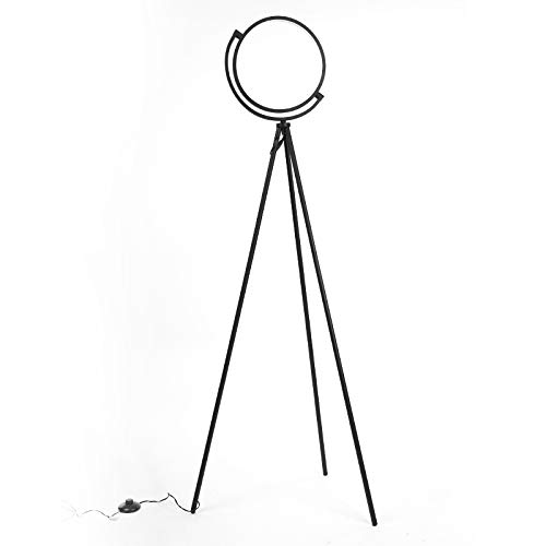 FADACI LED Floor Lamp, Tripod Standing Floor Lamps for Living Rooms Bedrooms and Offices Modern and Unique Design,16 wattage Warm Lighting (Black)