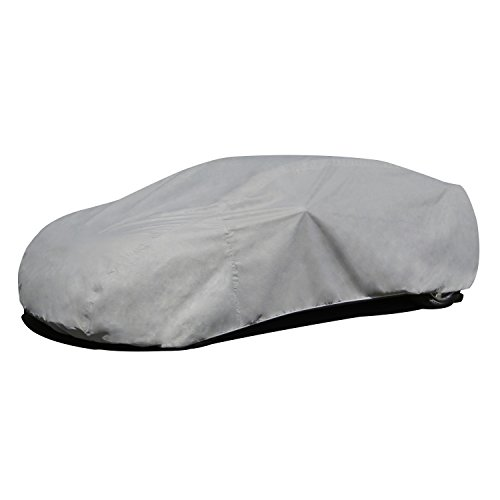 Budge Rain Barrier Car Cover Fits Sedans up to 264 inches, Waterproof RB-5 - (Polypropylene with Waterproof Film, Gray)