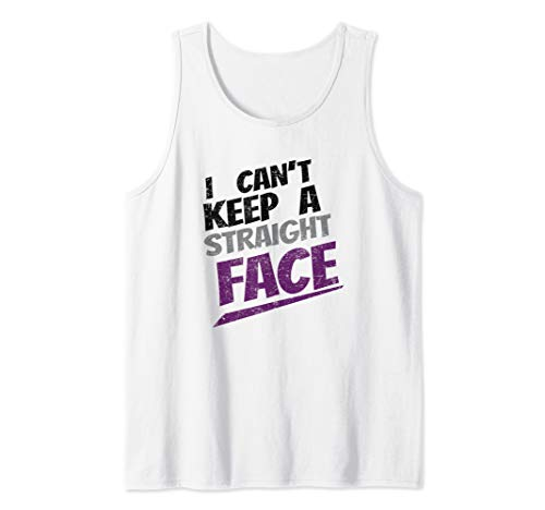- Cant keep Straight Face Asexual Pride LGBTQ Ace Party Tank Top