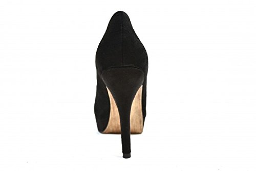 22419 Suede Heel F 23 115 Leather and High Pump Women's Black Shoes Tamaris 1 Ladies vq0fw5