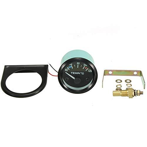 252 millimetri Car Auto 12V universale puntatore auto temperatura dellacqua Celsius indicatore puntatore con retroilluminazione a LED bianco