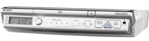 sony kitchen radio under cabinet sony icf cd543rm kitchen cd clock radio silver 26482