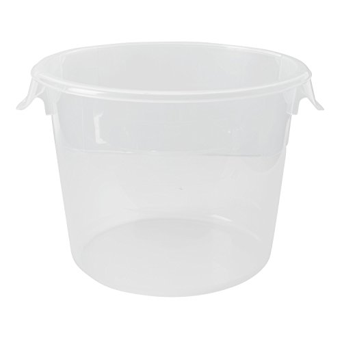 - Rubbermaid Commercial Products FG572324CLR Food Storage Container, Round, Polyethylene, 6 Quart, Clear (Pack of 12)