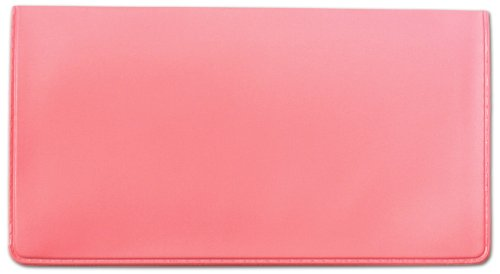 Pink Vinyl Checkbook Cover