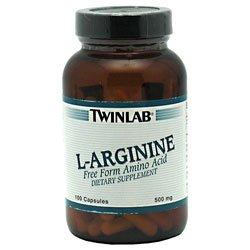 TWINLAB, L Arginine 500mg 100 caps
