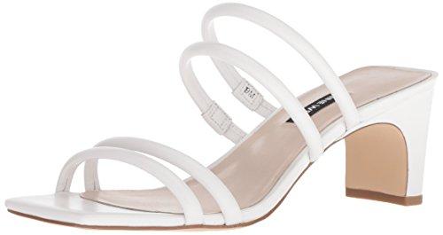 Nine West Women Nakato Leather Heeled Sandal White