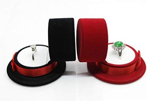 sharprepublic 指輪ケース プロポーズ リングケース ジュエリーボックス キャップの形 ベルベット オシャレ 黒