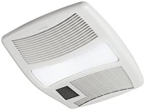Broan-NuTone QTXN110HL Ceiling Heater, Fan, and Light Combo for Bathroom and Home, 0.9 Sones, 1500-Watt Heater