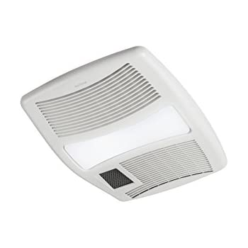 Nutone Qt9093wh Combination Fan Heater Light Night Light 110 Cfm 4 0 Sones With 4 Inch Duct