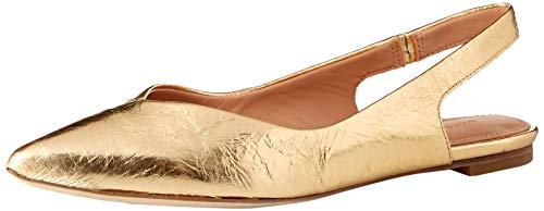 (Sigerson Morrison Women's Sunshine Ballet Flat, Gold, 37.5 M EU (7.5 US))