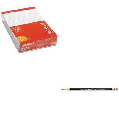 KITPAP2254UNV20630 - Value Kit - Paper Mate Mirado Black Warrior Woodcase Pencil (PAP2254) and Universal Perforated Edge Writing Pad (UNV20630)