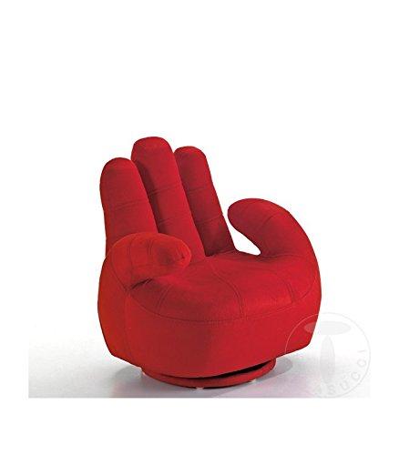 Tomasucci Sillón para niño con Forma de Mano - Rojo: Amazon ...