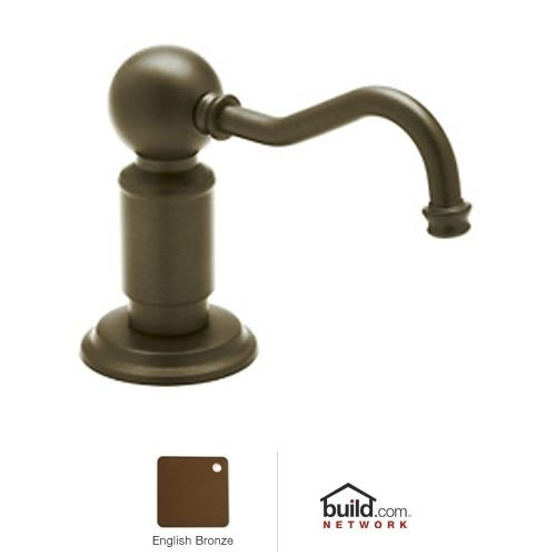 Rohl LS850PEB Luxury Soap/Lotion Dispenser with One Touch System to Match Perrin and Rowe, English Bronze - Bronze English Soap Dispenser